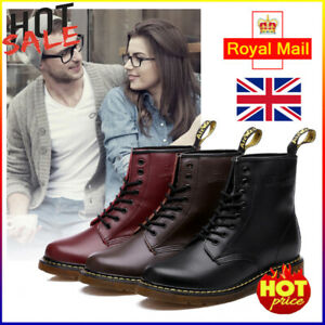 Unisex Dr. Martens 8 Lace Up Leather Doc Martins - Soft NAPPA 1460 Boots Shoes