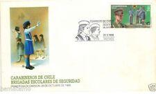 Chile 1988 FDC Carabineros Brigadas Escolares de Seguridad police