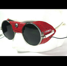 Vintage CEBE Expedition France Sun Glasses Glacier Alpinisme Mountaineering Red