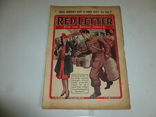 "RED LETTER Comic - Vol 44 - No 35 - Date 30/08/1941 - UK ""WOMAN"" Paper Mag"