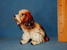 Happy Puppy Lefton 8286 Cocker Or Springer Spaniel Dog Ceramic Figurine