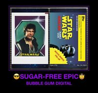Topps STAR WARS SUGAR FREE digital CARD TRADER HAN SOLO DARTH VADER Bubble Gum