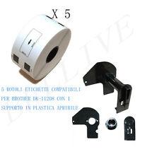 5 X Etichette per Brother DK-11208 38mmX90mm QL 1050 QL 1000 1060N con Telaio