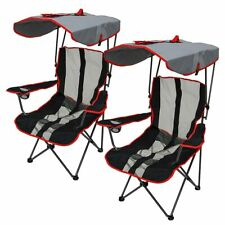 Kelsyus Premium Folding Chair w/ Canopy - Red 2 pack