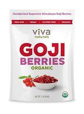 Viva Naturals Premium Himalayan Organic Goji Berries Noticeably... Free Shipping