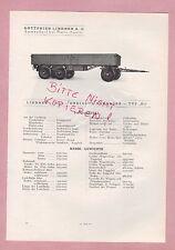 Ammendorf-Halle/s, types photo 1934 G LINDNER AG dreiachs-Kipp-remorque type h3 OV