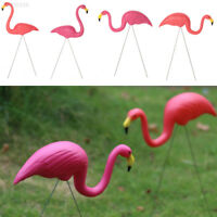 F9A5 Outdoor Plastic Flamingo Decoration Garden Gardening Decor Ornaments Pink/R