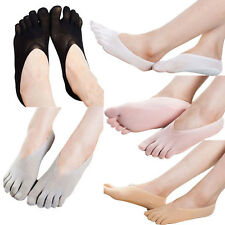1Pairs Lady Invisible Low Cut Crew Ankle Hosiery Socks Five Finger Toe Stocking