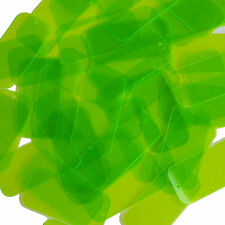 Lime Green Transparent Sequins Rectangle See-Thru 1.5 inch Couture Paillettes