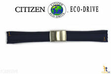 Citizen Eco-Drive AT4009-08L 24mm Blue Rubber Watch Band Strap 4-S077729