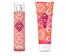 2 Bath Body Works Portofino Pink Prosecco Fine Fragrance Mist & Shea Cream Set