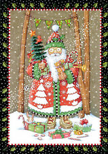 Mary Engelbreit-Noel Woodland Santa Claus-Rsvp Christmas Card w/Envelope-New!