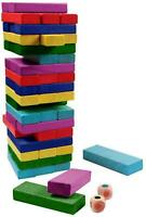 Children Wooden Block Tower Game Tumbling Stacking Wood Kids Game Toy Gift