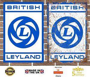 British Leyland Metal Sign Garage Sign Wall Plaque Vintage Retro Man Cave Bar