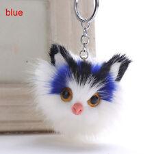 Pompom Fur Car Key Rings Bag Pendant Fashion Fluffy Cat Shaped Key Chains Cute