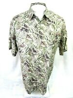 CAMPIA MODA Men Hawaiian ALOHA shirt pit to pit 24 sz M rayon jungle luau camp