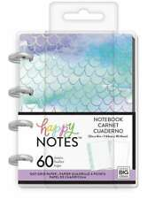 NEW! Happy Planner MAMBI MICRO Happy Notes Mermaid Notebook - 60 PGS Dot Grid