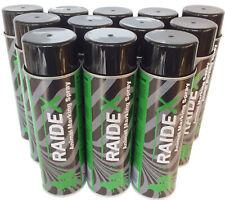 RAIDEX® Viehzeichenspray 12 x 400ml grün - Farbspray Markierungsspray - 12 Dosen