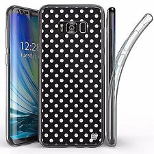 For Samsung Galaxy S8 Plus,Tri Max Transparent Full Body Case Cover POLKA DOT