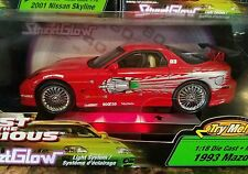FAST AND THE FURIOUS  1993 MAZDA RX-7 STREETGLOW 1:18  NEW IN UNOPENED BOX