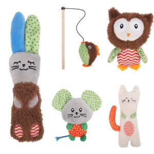 Kitten Toys Cat Little Nippers Interactive Teaser Plush Catnip Filled Crinkly