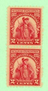 USA 2 stamps,  SC 657, Sullivan Expedition, 1929, MNH