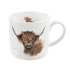 Royal Worcester Wrendale Designs mug Highland Coo Cow Cattle Mugs