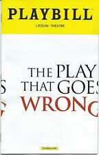 THE PLAY THAT WENT WRONG Playbill OPENING NIGHT Broadway J.J. Abrams