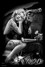 24x36 Marilyn Monroe Poster Hollywood HillsTattoo Art Wall Decor
