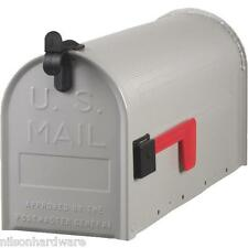 """Deluxe No. T1 Gray Galv Steel 6 3/4"""" W X 19"""" L X 8 3/4"""" H Rural Mailbox ST10"""
