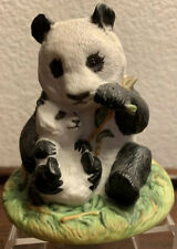 Panda Franklin Mint Endangered Mother and Baby Animals Giant Panda 1989