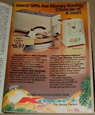 1980 KMART STORE CHRISTMAS PRINT AD~SILEX IRON & TOASTER~KMART CLOCK CAN OPENER