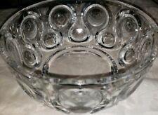 Vintage Mid-Century Round Crystal Bowl