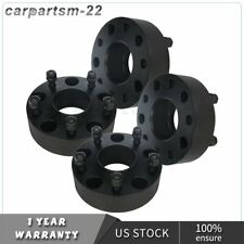 """2""""(50mm) thick 5x5.5 14x1.5 studs black 2 pair wheel spacers black for Ram 1500"""