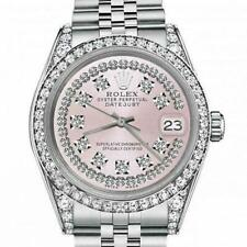 Rolex Oyster Perpetual Datejust 36mm Pink String Diamond Dial Jubilee Bracelet D