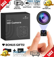 Small Hidden Mini Spy Camera - Secret Tiny Spy Cam for Home or Car with Motion D