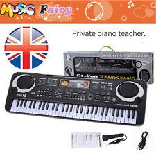 61 Key Digital Music Electronic Keyboard Microphone Kid Toy Electric Piano Organ