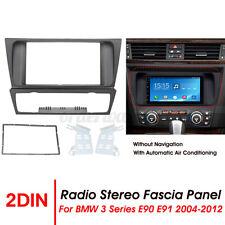 2 Din Radio Stereo Fascia Panel Frame Fitting For BMW 3 Series E90 E91 E92 E93