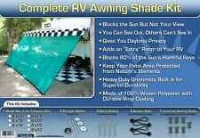 RV Awning Shade Green Awning Shade Screen Panel Complete Kit 8x15