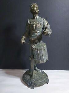 """Antique Bronze Spanish Conquistador Statue 12.5"""""""