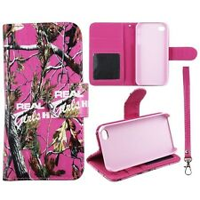 Real Pink Girlzzss Camo RT In Pnk Wallet S Leather Apple Iphone 4 4s  Case Cover