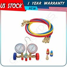 Auto A/C Refrigeration Air Conditioning AC Diagnostic Manifold Gauge Tools Kit