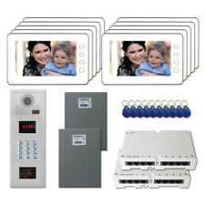 """Multi Tenant Entry Door Video Intercom Kit System with (10) 7"""" Color Monitor"""