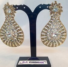 Diamante sparkle bling Gold Fashion earrings,prom,party,bridesmaid SV5-620G/WLCT