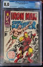 Iron Man and Sub Mariner #1 One Shot CGC 8.0 White Pages!