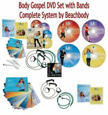 New BODY GOSPEL DVD WORKOUT SET w/RESISTANCE BANDs/Training Cards/Nutrition Plan