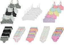 5 Pack Girls Teenage Girls Crop Top Cami Vest First Bra 10 Briefs Shorts GEORGE