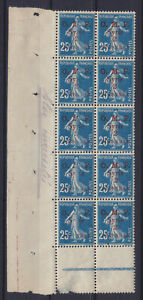 "SYRIA SYRIE 1920, YVERT 37, BL. OF 10, MNH ** ERROR: ""M."", ""SYRIE"" & ""2"" MISSING"