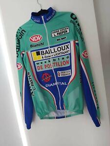 Bianchi Long Sleeve Cycling Team Jersey Racing - Full Zip Shirt- Size 3