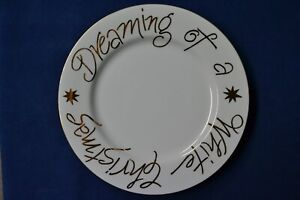 Pier 1 Imports Dreaming of a White Christmas Plate 10""